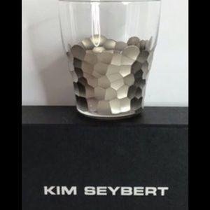 Kim Seybert Four NEW Platinum Shot Glasses
